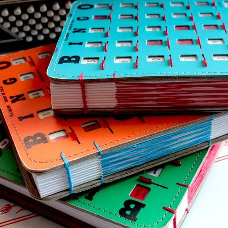 bingo card journal or sketchbook