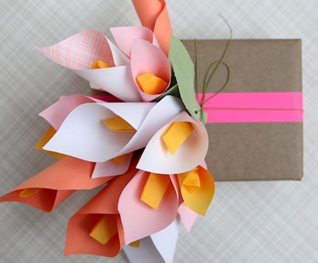 Paper callalily gift wrap