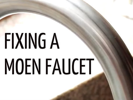 Video tips for fixing a Moen faucet