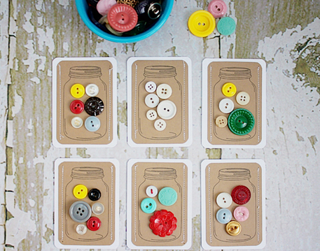 buttons in a jar gift tags