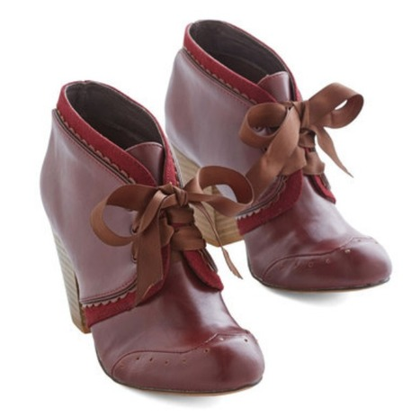 All Sweetness and Delightful Bootie in Wine - ModCloth