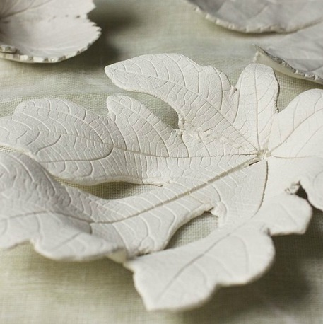 Leaf bowl air-dry clay