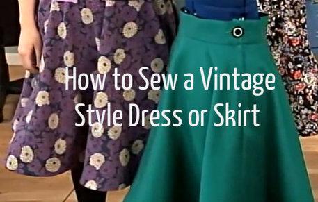 learn how to sew a vintage style dress free, shops like modcloth
