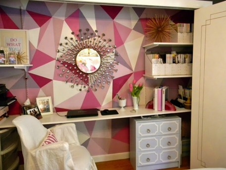 Geometric Faceted Wall covering