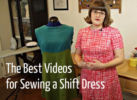 how to sew an easy shift dress video tutorial