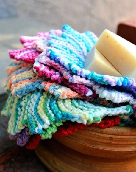 washcloth dishcloth knitting pattern