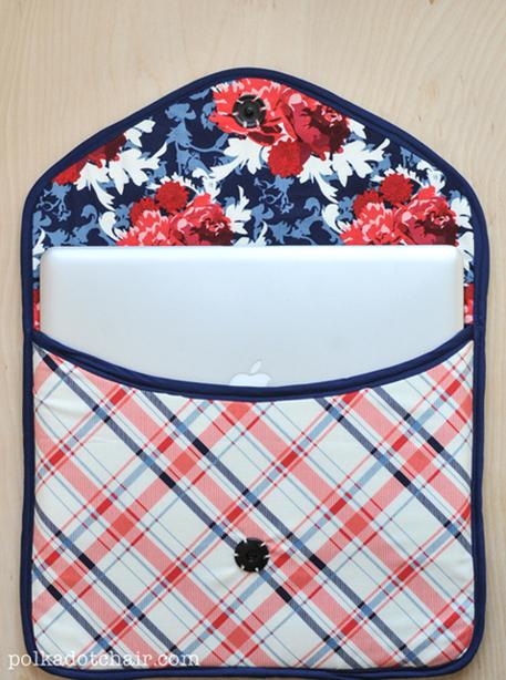 laptop clutch sewing pattern
