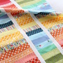 easy Rainbow modern strip quilt