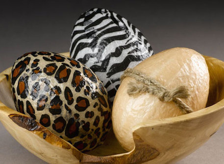 animal print easter eggs