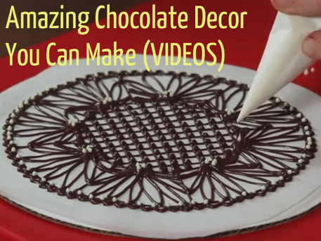 make chocolate flowers, bowls and willy wonka's chocolate river