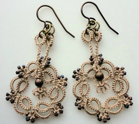 Kinetic Tatted Earrings