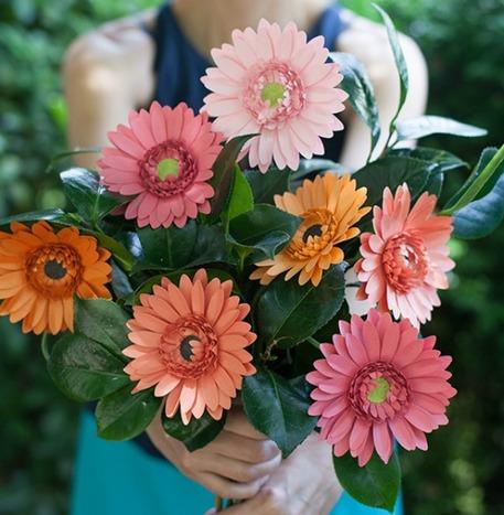 Gerbera Daisy Paper Flower Bouquet