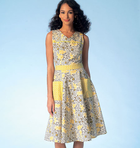 sleeveless dress pattern with belt