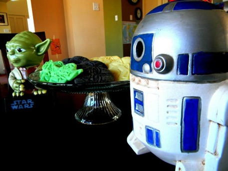 Star Wars Cookies with Yoda and R2D2