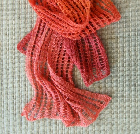 Color-Change Ladder-Lace Scarf