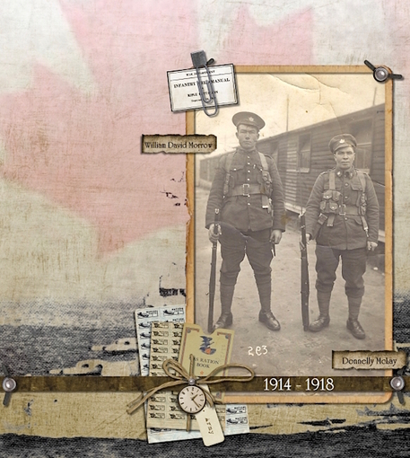 in memoriam miltary heritage scrapbook layout