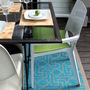 diy stenciled outdoor patio rug