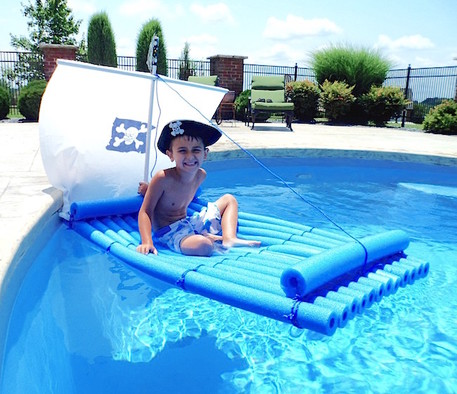 pirate raft made out of pool noodles