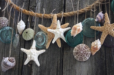 shell starfish diy beach garland