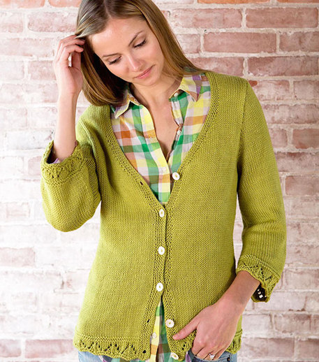 Light green cardigan knitting pattern