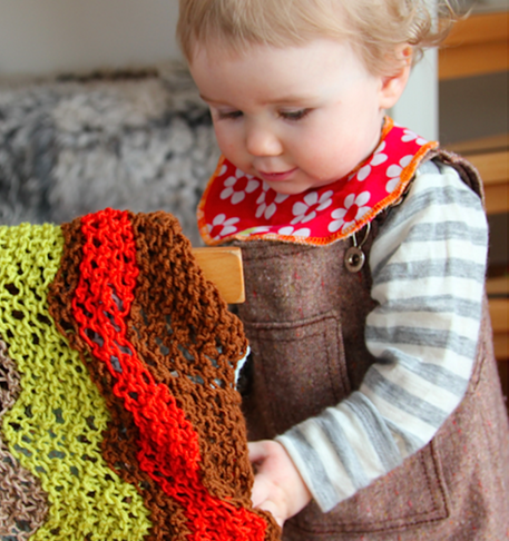 striped baby blanket knitting patterns