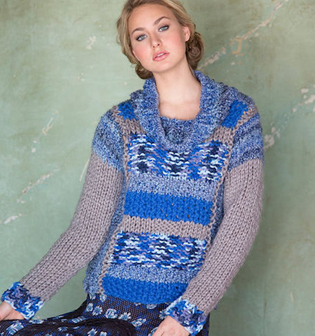 red heart mixology sweater knitting pattern