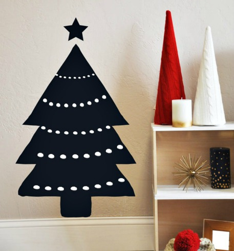 Chalkboard Christmas Tree Wall Decal