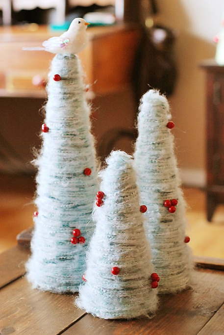 Wrapped Christmas trees