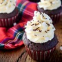 Creamy hot chocolate cupcakes