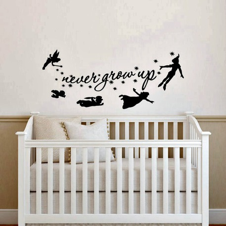 Peter Pan Inspirational Quote Wall Decal