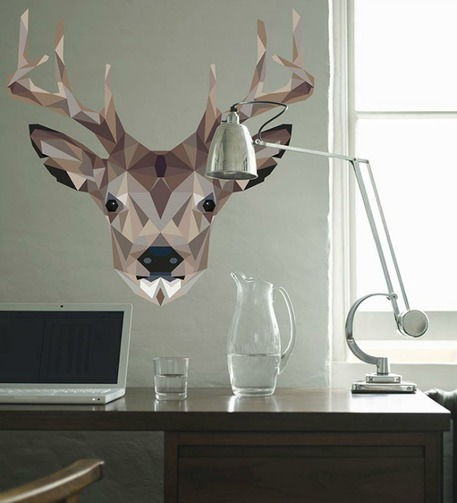 Geometric Deer Head Decal