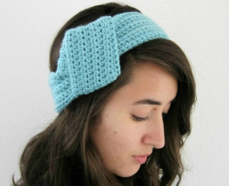 Big knot crochet headband