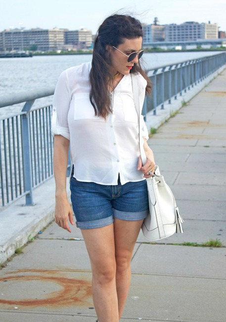 Button down shirt with shorts