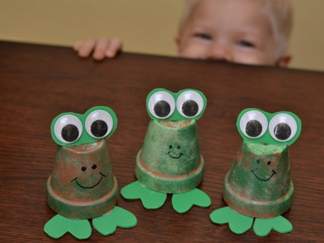 Clay Pot Frogs