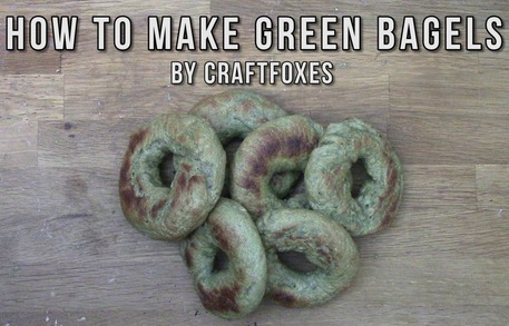 How to make green bagels