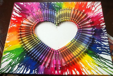 traditional melted crayon art