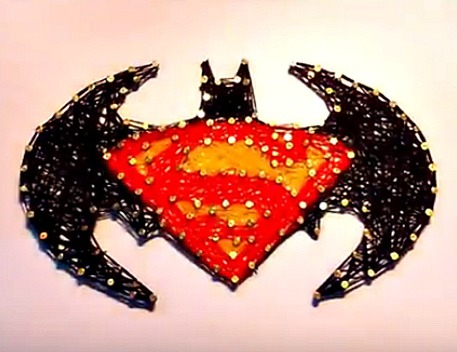 Batman v Superman String Art