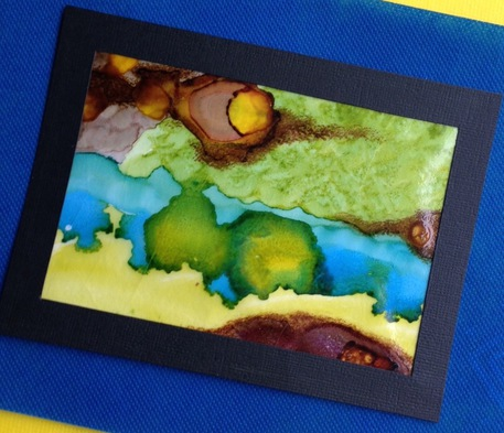 wax paper painting alcohol inks