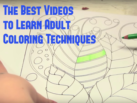 learn adult coloring book techniques (VIDEO)