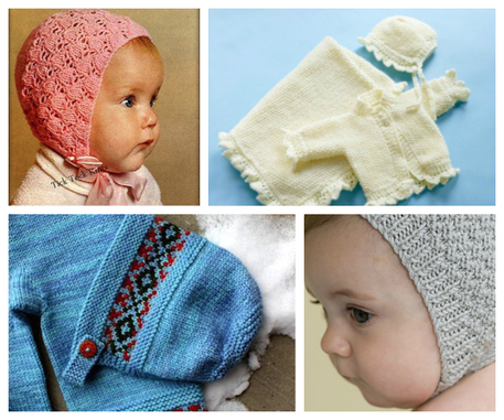 8 Great Knitted Vintage Baby Bonnets Craftfoxes