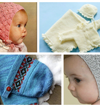 8 Great Knitted Vintage Baby Bonnets