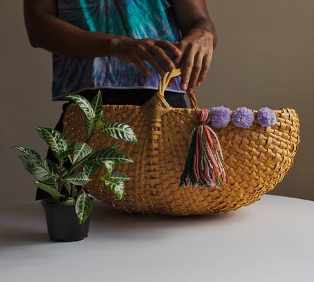 stylish woven basket
