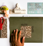 Organize Yarn Swatches with DIY Personalized Folders