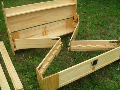 wooden chest fold up bed