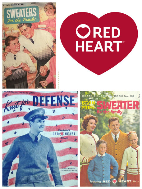 Red heart yarn new logo