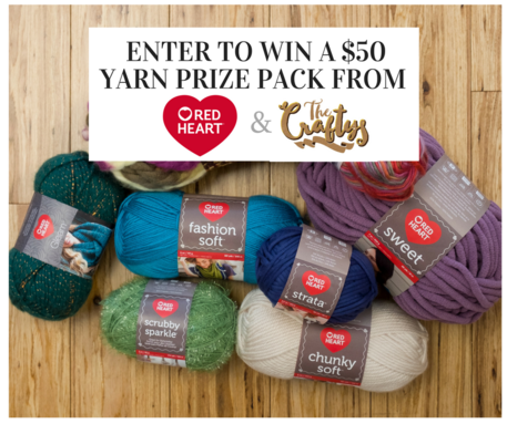 win a red heart yarn prize pack