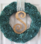 Brilliant and Nutty: Upcycling Crafter Kelli Stradling Turns Pistachio Shells into a Beautiful Wreath