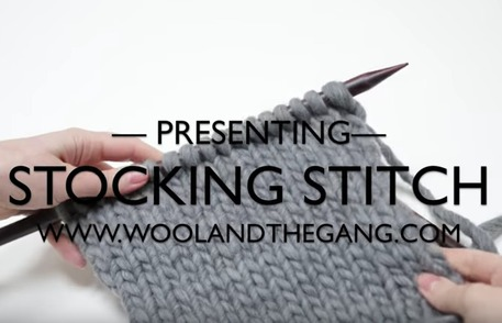 best videos to learn the stockinette stitch