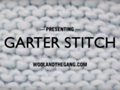garter stitch how-to knitting tutorial