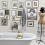 salvage style clawfoot tub bathroom